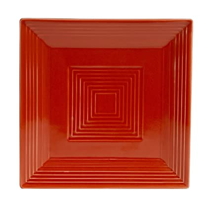 Amazon.com: CAC China TG-SQ16R Tango Red Porcelain Square Plate, 10 ...