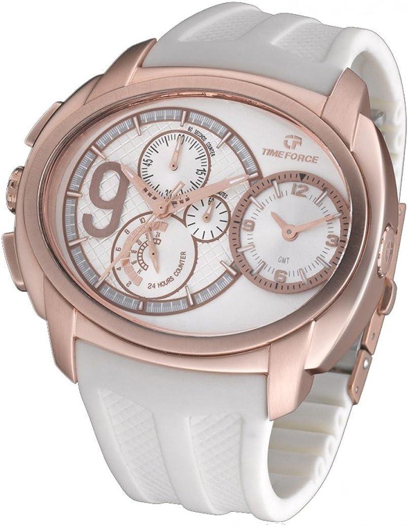 Reloj Time Force Cristiano Ronaldo TF3330M02 Hombre Blanco