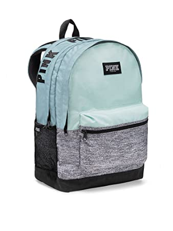 a02001c00c Victoria s Secret Pink Women s Campus Backpack Light Blue   Gray