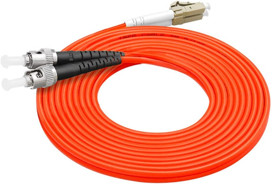 0.5m Fiber Optic Cable LC to ST Multimode Duplex OM1 62.5//125mm Fiber Optic Patch Cord
