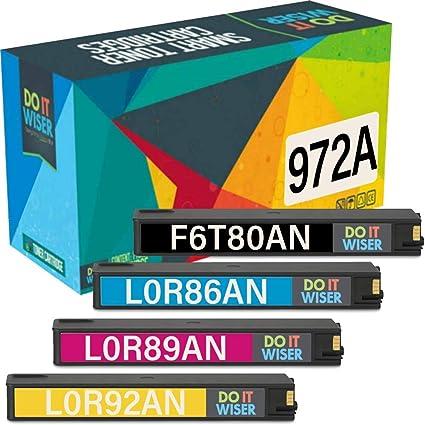 4pk 972A 972 Ink Cartridge for HP PageWide Pro 377dw 377dn 477dw 577dw Printer