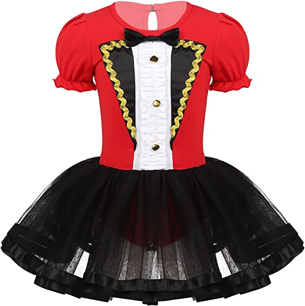YiZYiF Disfraz Domadora Circo Niñas Vestido Fiesta Rojo Bebés ...