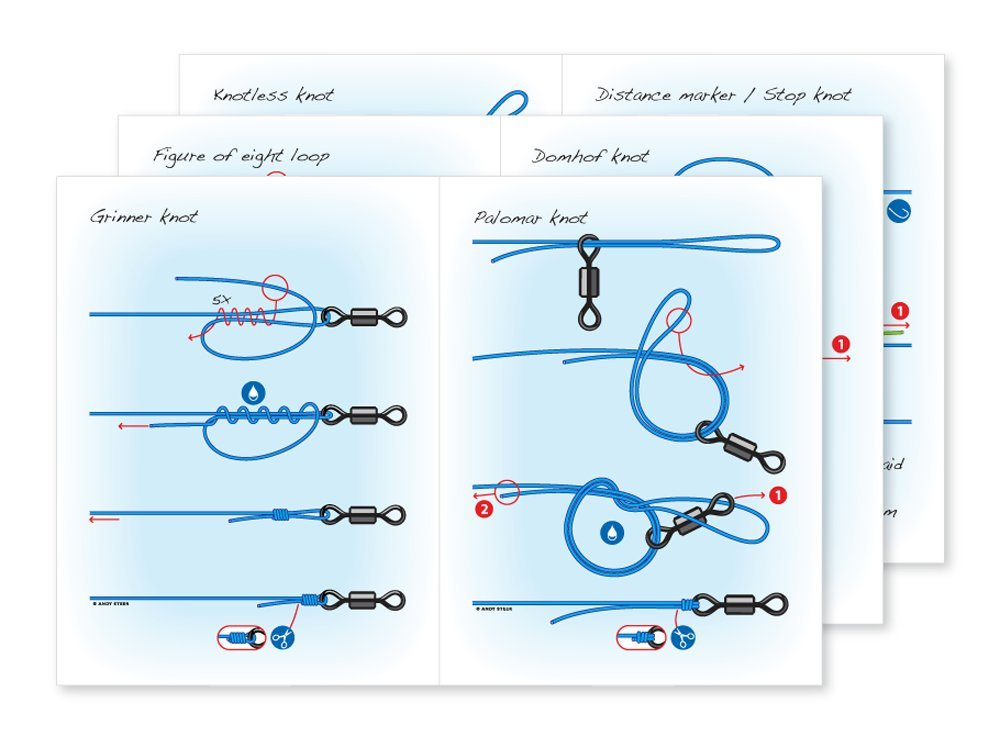 Fishing knot booklets - set of 6: Amazon.co.uk: Andy Steer ...