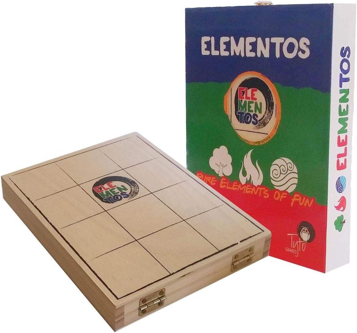 ELEMENTOS - 2 Jugador estrategia luz madera juego: Amazon.es: Juguetes y juegos