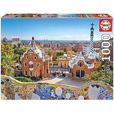 Educa Borras 1000 Veduta Di Barcellona Dal Park Gell Puzzle 17966