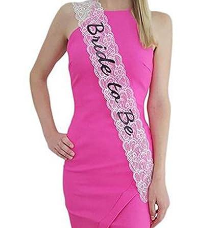 b4ae4d61466c Smiffys 22357 Déguisement Femme Écharpe Future Mariée « Bride To Be »,  Rose, Taille