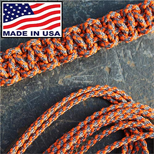 3 Mm Accessory Cord - Orange Screw 3mm Paracord - Textured Posi-Lock | Reflective Orange | Made in The USA