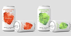 Hide your Beer with silicone Can Sleeve, Holiday, Thanksgiving, Christmas, Looks Like Soft Beverage, for Party, Sport Events, Beach, Park, Travel, 12 OZ (355ml) (2 Pack) (Orange+Green)