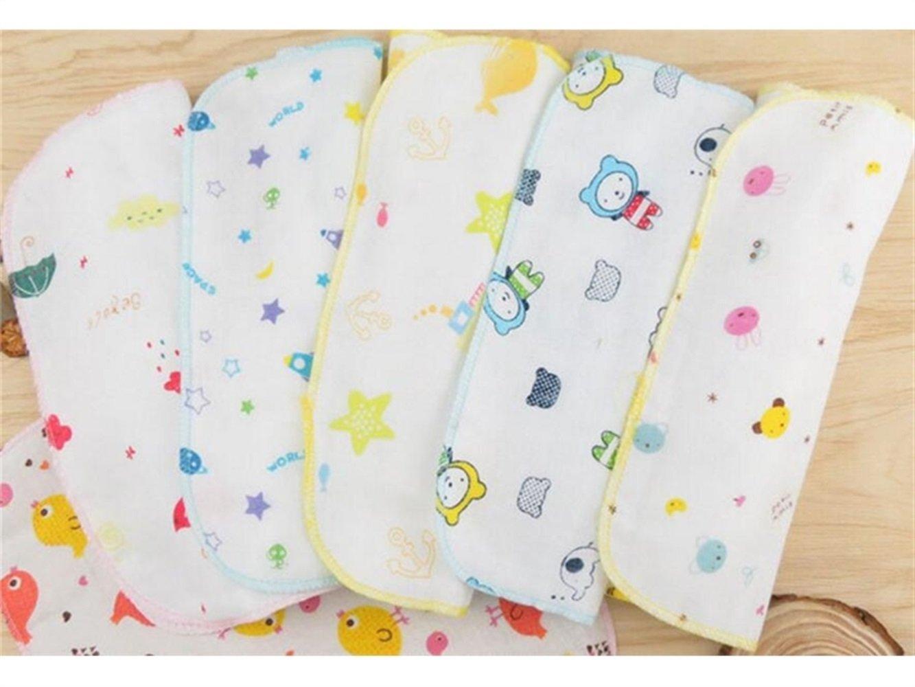 PanpA Suave 3 Unids Impreso Toalla Cuadrada Sudor Absorbente Wicking Toalla de Gasa toalla Toalla de Baño para Bebés y Niños