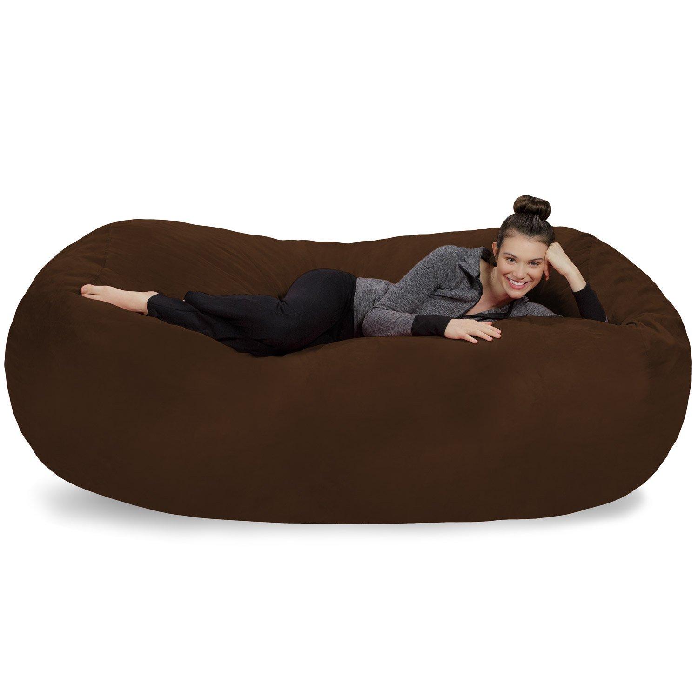 Sofa Sack-Bean BagsGiant Bean Bag Lounger, 7.5', Chocolate