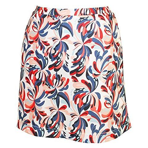 Monterey Club Ladies' Dry Swing Water Fountain Print Pull-on Skort #2917 (White/Navy, Large) - Club Ladies Tee