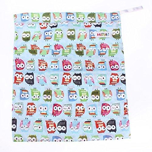 Bebé impermeable Zipper Bolsa lavable reutilizable gamuza de bebé bolsa de pañales Danapp