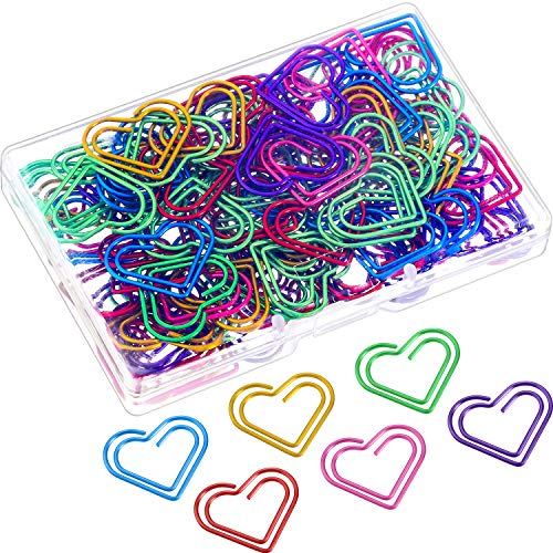 Frienda 105 Pieces Multicolor Paperclips Metal Paper Clips for School Office Supplies (Size B) -