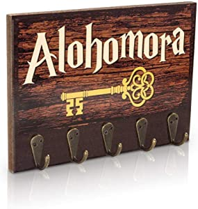 getDigital Alohomora Key Rack | Magical Home & Office Decor Key Holder with 5 Metal Hooks | Also Suitable as a Hanger for Clothes, Bags or Dog Leashes