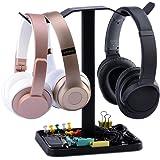 Neetto Cuffie Supporto Doppio, Gancio Appendi Cuffie Universale per Cuffie, Sennheiser, Sony, Audio-Technica, Bose, Beats, Akg, e Cuffie da Gioco - HS908