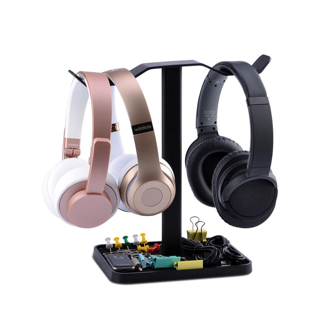 Neetto Soporte para Auriculares Dobles de Mesa, Soporte de Auriculares para Sennheiser, Sony, Audio-Technica, Bose, Beats, Akg, Soporte Exhibidor para ...