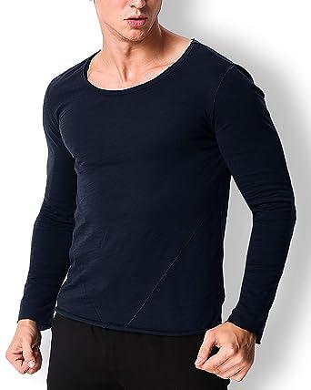 4dafe9d9 MODCHOK Men's Long Sleeve T Shirt Cotton Undershirt V Neck Tee Henley  Shirts Slim Fit Tops