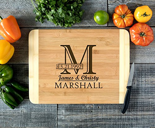 Imprint Block - Personalized Cutting Board Engraved Bamboo Chopping Block HDS - Imprint Initial