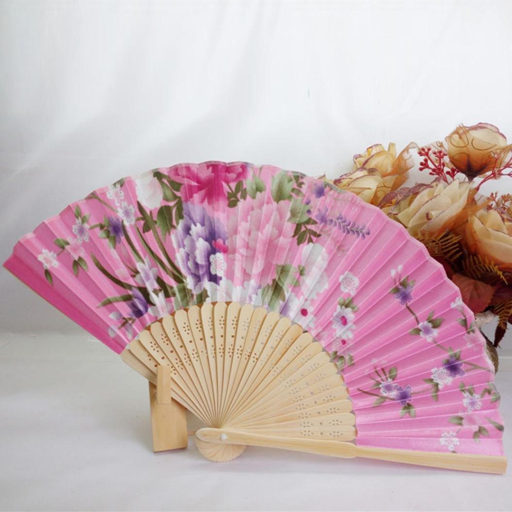 Amazon.com: Folding Hand Held Fans, Inkach Folding Fans Japanese ...
