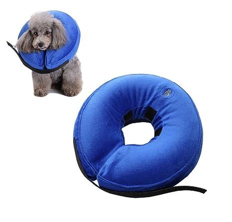 Premewish Collar hinchable ajustable para gatos y perros, cómodo protector para mascotas de la recuperación