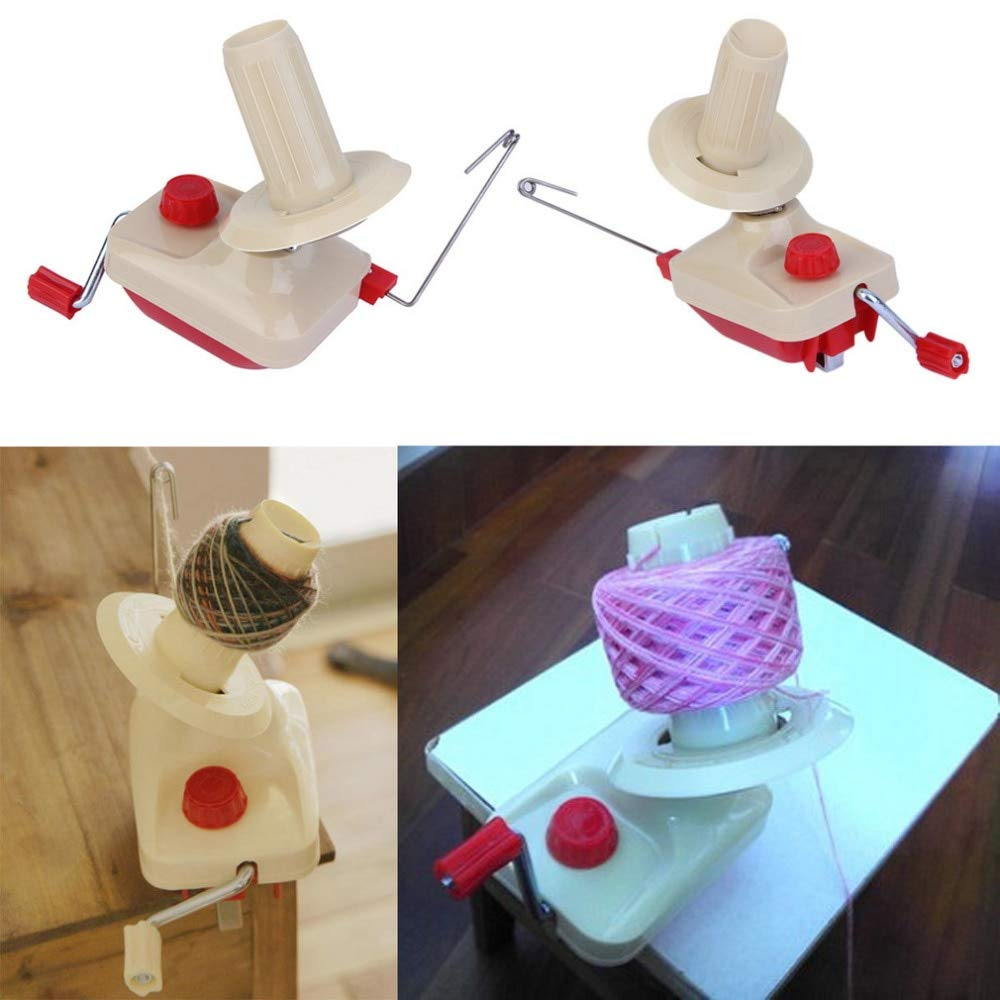 Davitu Portable Hand-Operated Swift Yarn Fiber String Thread Ball Wool Winder Knitting Roll Coil Tidy Machine Holder Tool