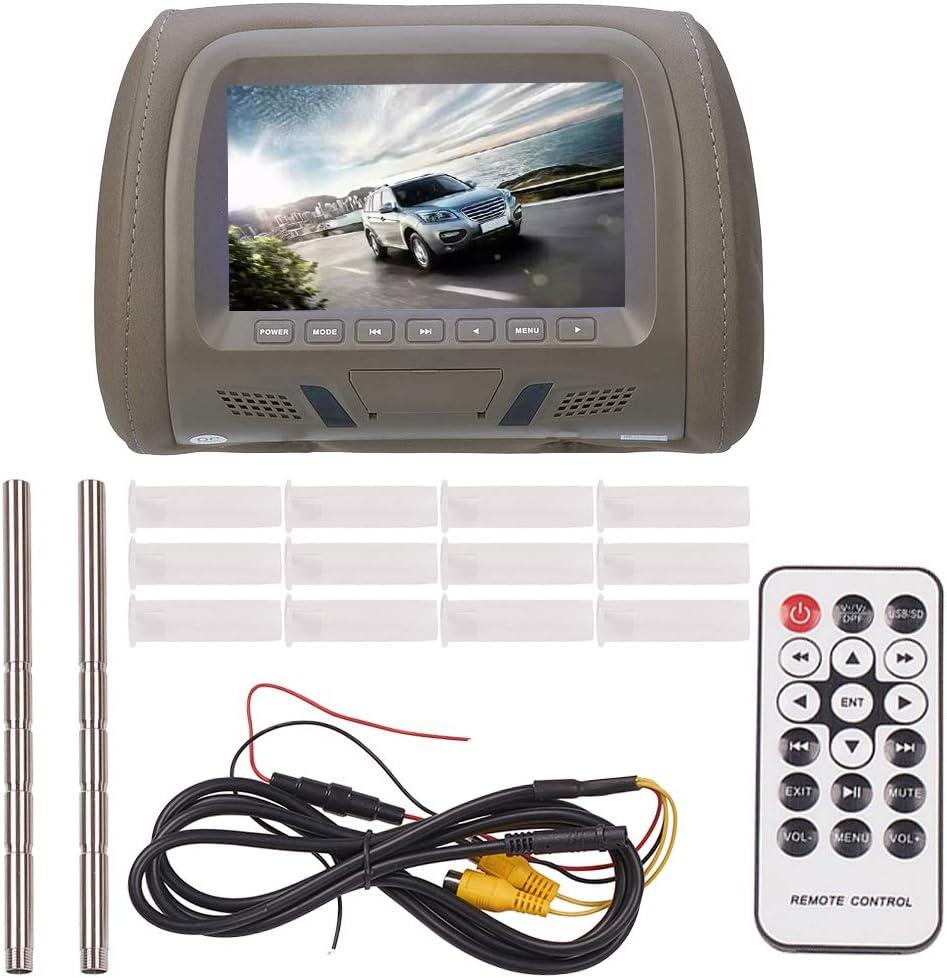 JSCARLIFE Pantalla de resolución para reposacabezas de coche, 800 x 480 megapíxeles: Amazon.es: Electrónica