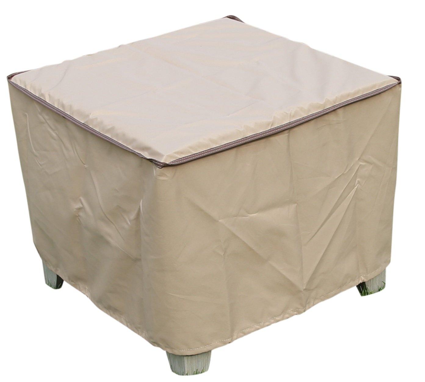 Amazon com sorara rectangular coffee side end table cover outdoor porch ottoman table cover water resistant 26 l x 26 w x 18 h garden outdoor
