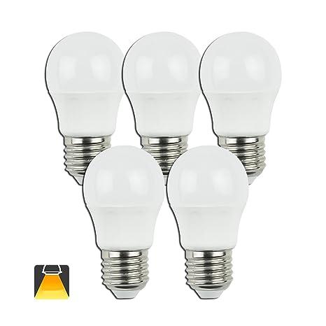 Aigostar - Bombilla LED A5 G45, E27, 5 W equivalente a 40 W,