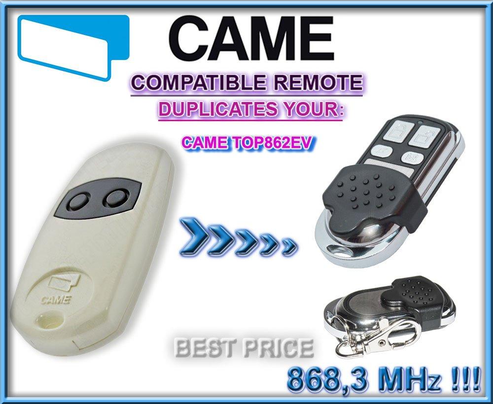 CAME: TOP862EV, transmisor de repuesto del mando a distancia 868,3 MHz, código fijo.