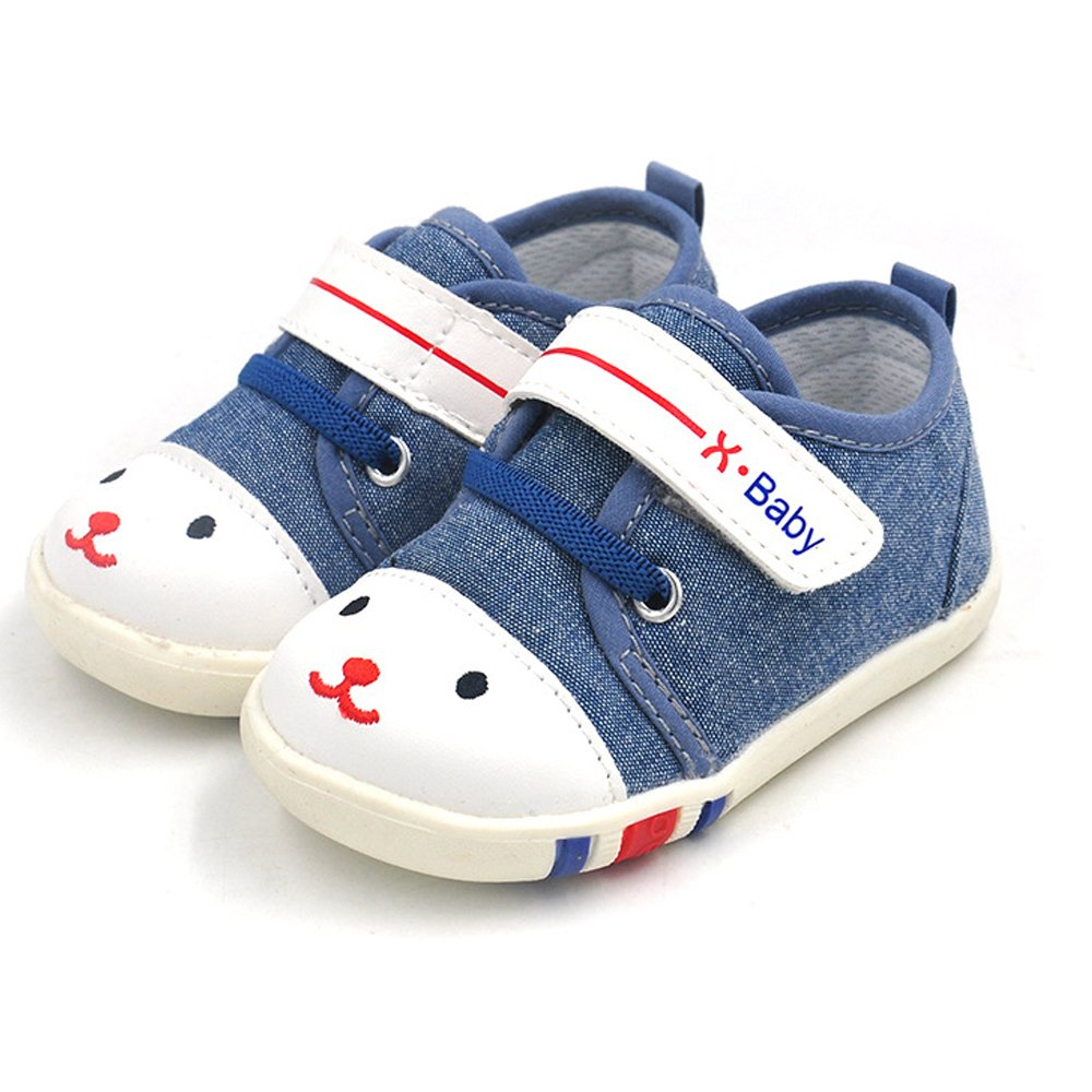Baby Shoes For Infant Newborn Girl Girls Boy Boys Kids Babies Toddler Tennis Walking Running Size 4 5 Pink Blue White Red Preawalker Shoes Sneakers Flats( 5.11''-12-18 Months 1.Blue Size 17)