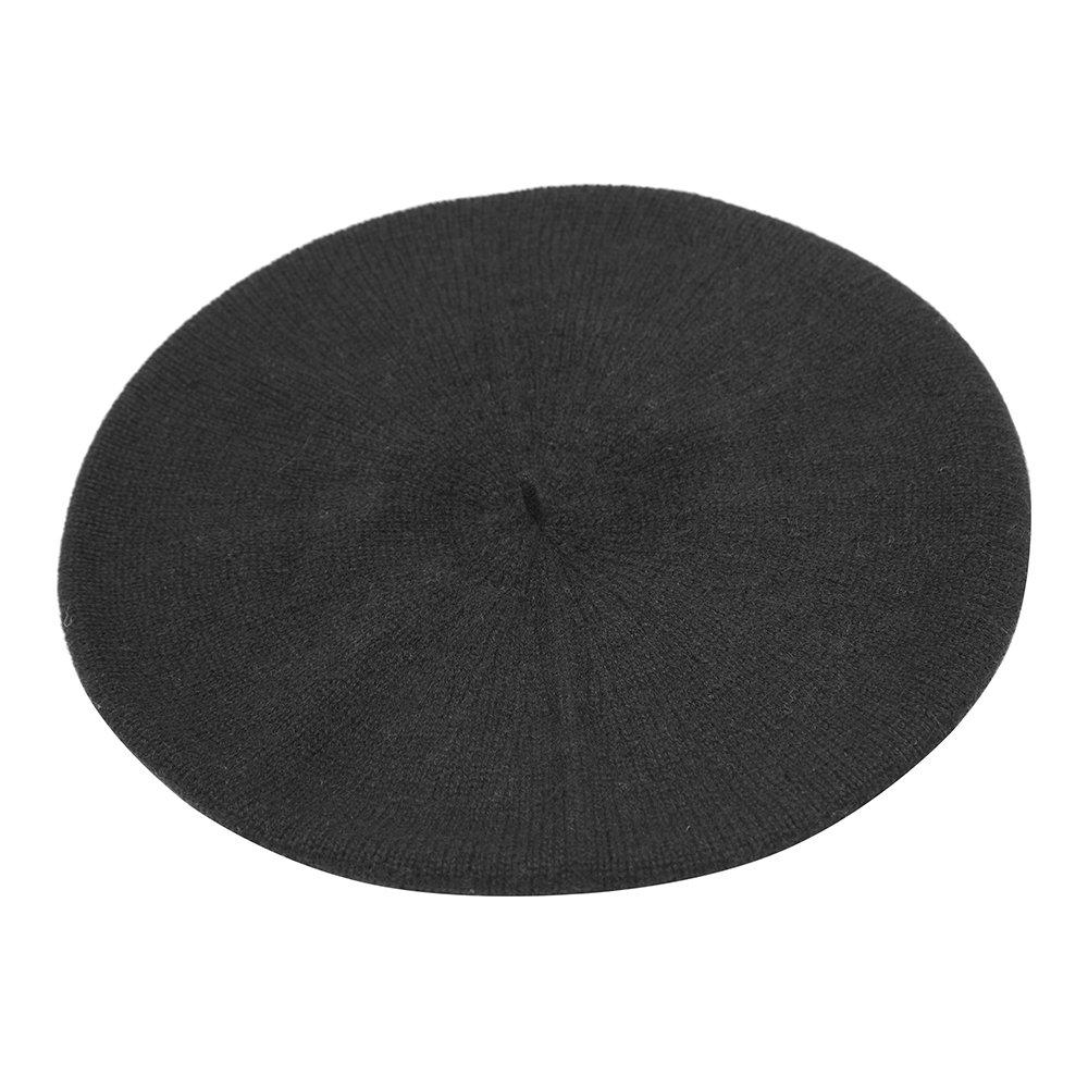Pure Cashmere Beret, Black