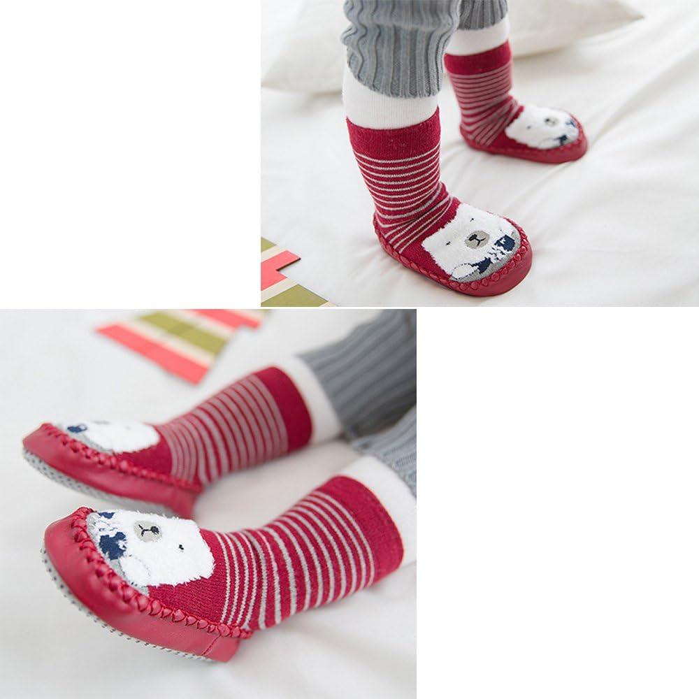 XFentech Baby Socks Floor Socks Cotton Children Anti-Slip Toddlers Step Socks Shoes Boots Slipper 0-30 Months