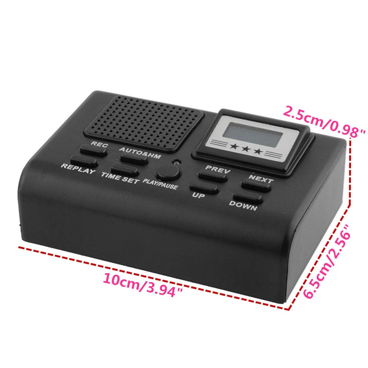 Professional Digital Telephone Voice Recorder Mini Phone Call Recording Device LCD Display Support TF Card MP3 Play
