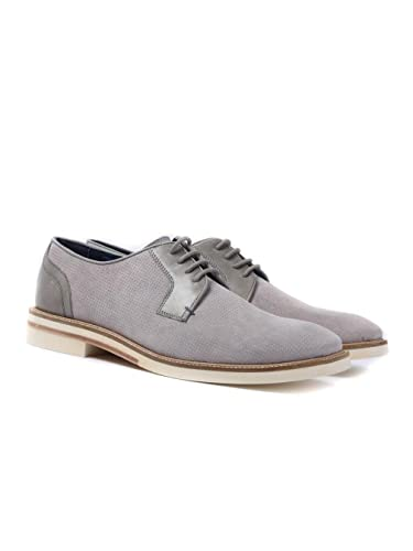 977fd44785d28a Amazon.com  Ted Baker Mens Light Grey Siablo Perforated Suede Shoes ...