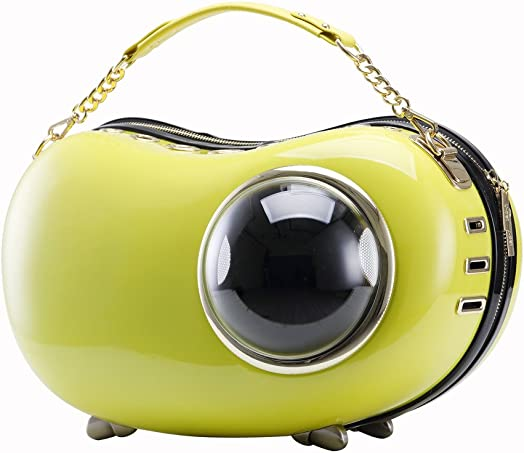 Upet Bubble Peapod Pet Carrier Yellow