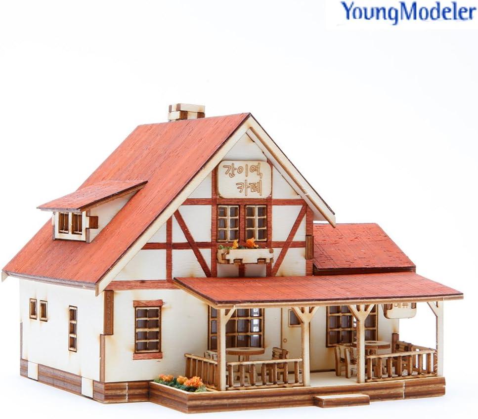 Desktop Wooden Model Kit A cafe at a whistle stop