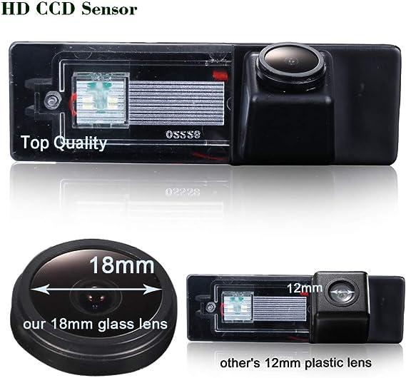 Cam/éra de recul HD 720p cam/éra de recul 170/° Vision Nocturne /étanche pour BMW Mini Cooper Clubman//Convertible//Countryman//Couper//1 Series E81 E87 F20 135i 640i 120i M1
