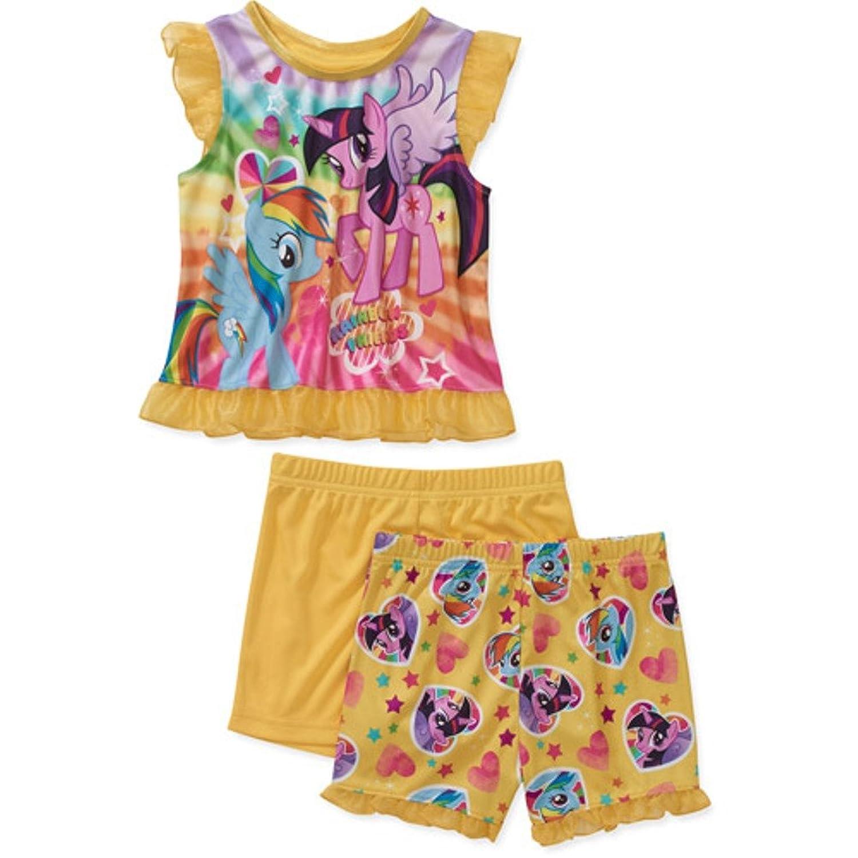 amazon com baby girls my little pony 3 piece short sleeve pajama