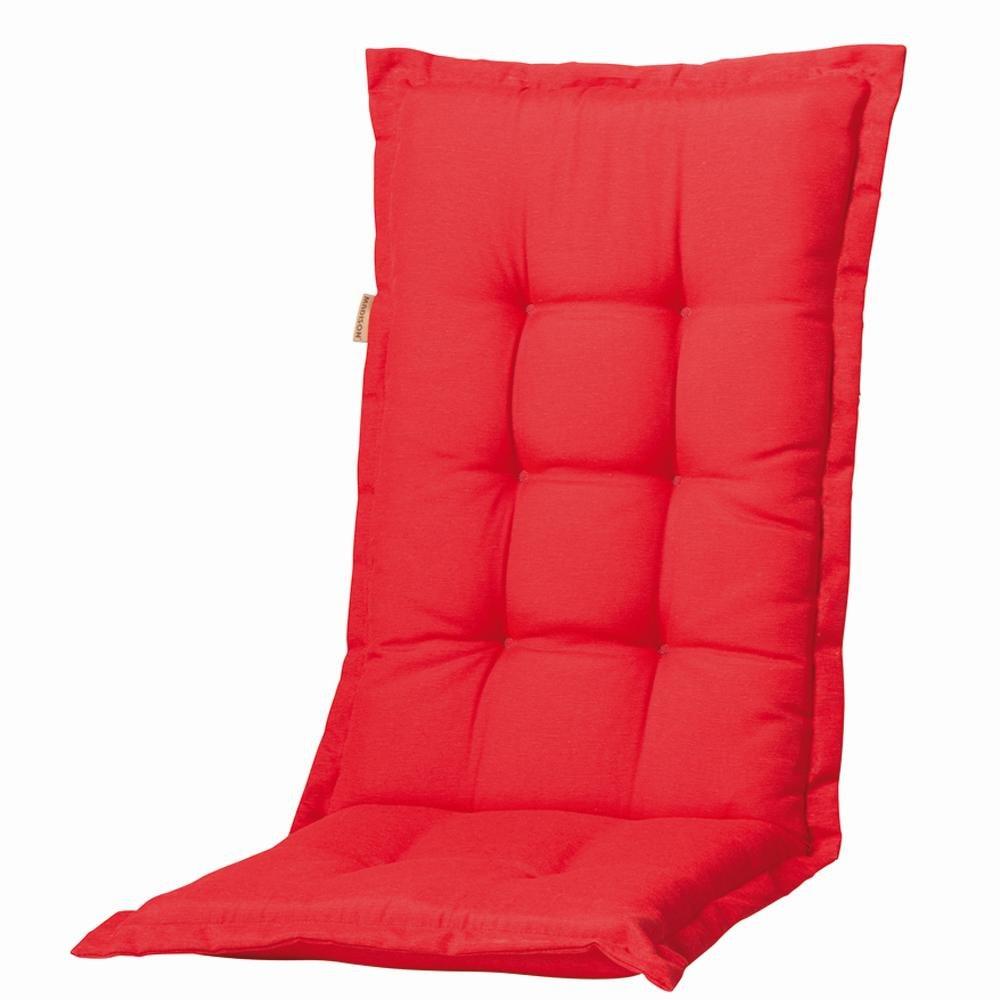 Madison Dessin Panama–Matratze für Garten Stuhl (75% Baumwolle, 25% Polyester, 110x 48x 8cm) 4 unidades rot