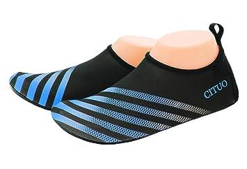 Fortunings JDS Zapatos de agua-Seco rápido Hombres Mujeres Descalzo Aqua calcetines Zapatillas de piel