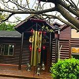 Wind Chimes Outdoor Wind Chimes Garden Wind Bells Bronze Chime 4 Tubes 5 Bronze Bells Sounds Crisp for Yard Garden Outdoor Indoor Bedroom Ornaments (Bronze Bells)