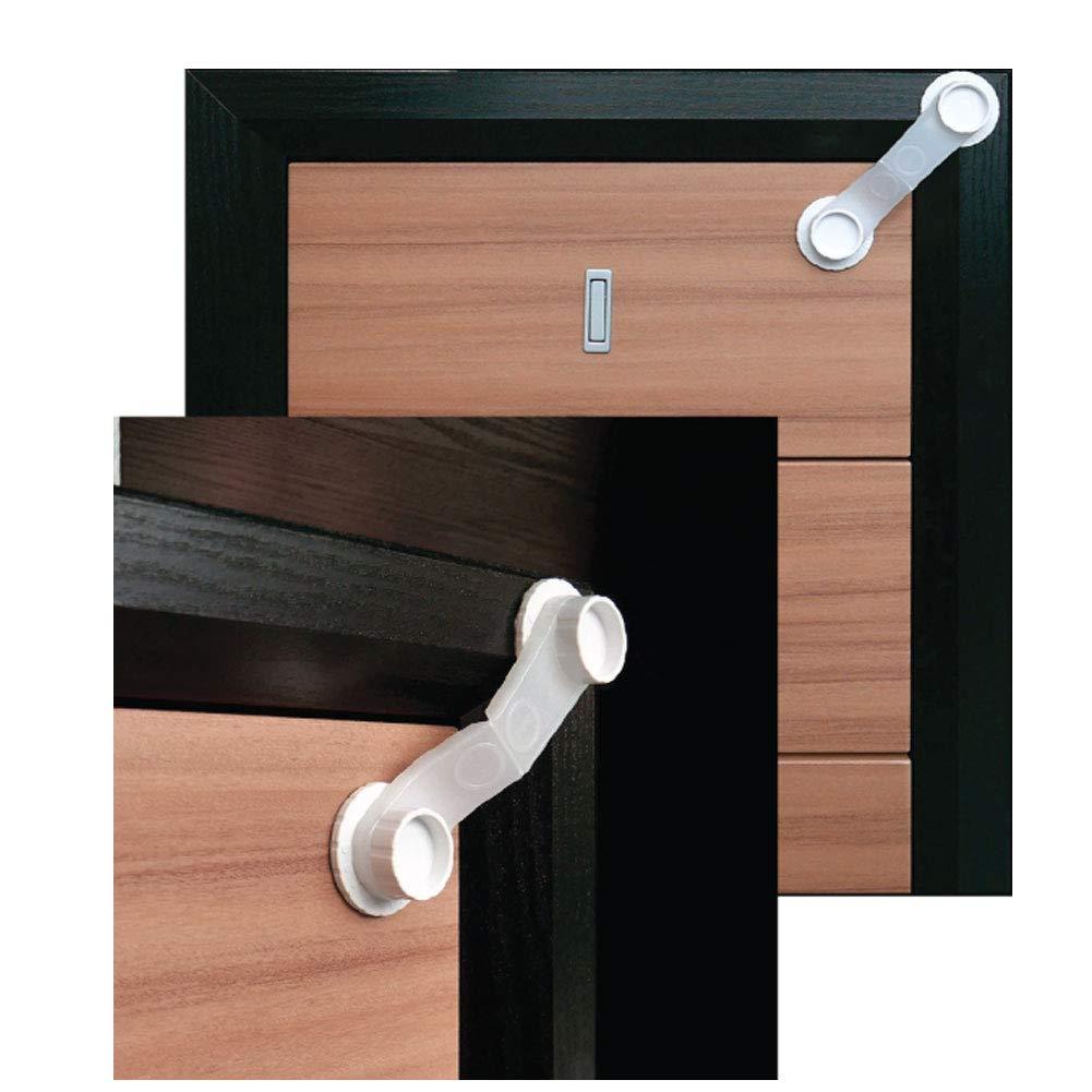 No Odor Left // 6 Locks JHK No Drilling Multi-Purpose Use Baby /& Child Proof 3M Adhesive Lock System Safetly Kids Drawer Lock System,No Tool