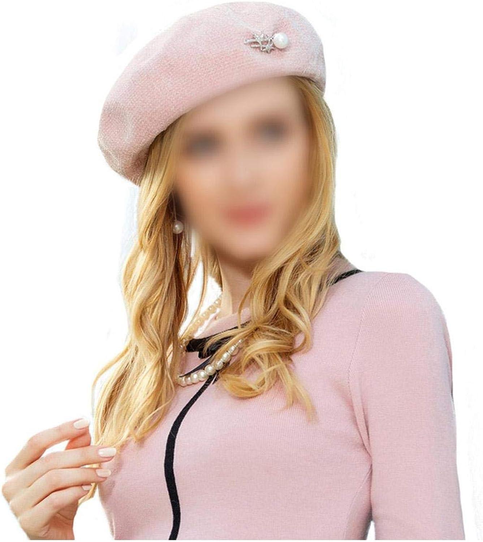 Wool Beret Hat Warm Caps...
