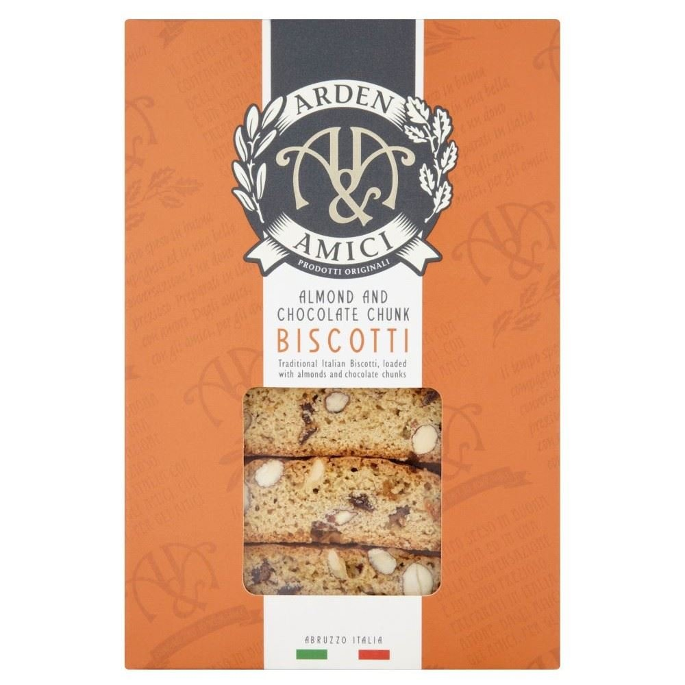 Arden & Amici Almond & Chocolate Chunk Biscotti 180G Groceries