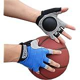 Basketball Dribble Gloves Finger Training Anti Grip Basketball Gloves for Youth Adults, Enhanced Finger Control Ball Ability, Basketball Training Aids, Finger Strengthener