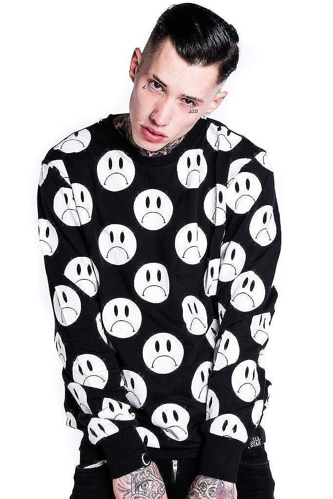 Killstar Herren Unisex Pullover - Sad Sweatshirt