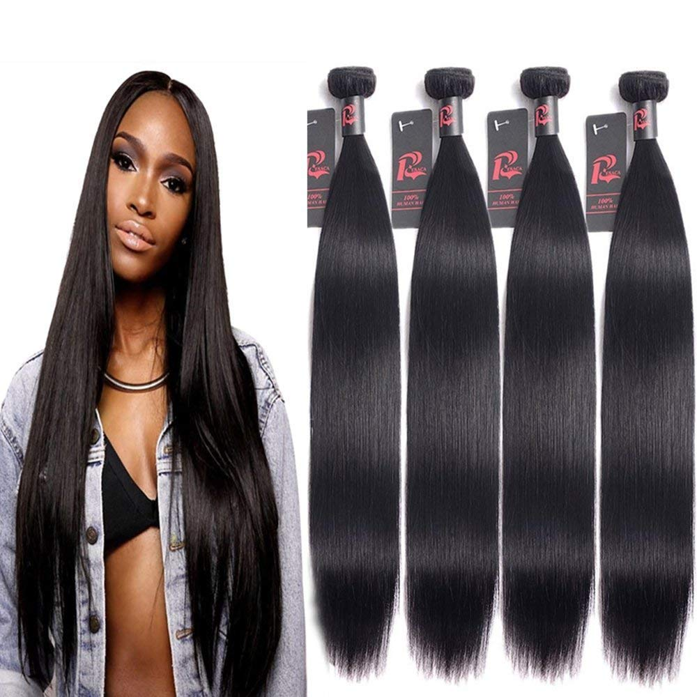 10A Malaysian Bundles Human Hair 22'' 24'' 26'' 28'' Straight 4 Bundles 100% Unprocessed Virgin Human Hair Weave Straight Malaysian Hair Resaca Hair
