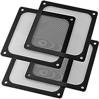 S SIENOC 4 x 140 * 140 mm magnetyczna obudowa z siatki chłodzącej wentylator pyłoszczelny filtr do grilla do komputera…