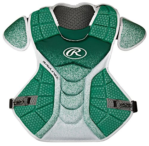 Rawlings Sporting Goods Catchers Velo Series Intermediate Chest Protector, 15.5'', Dark Green/White by Rawlings