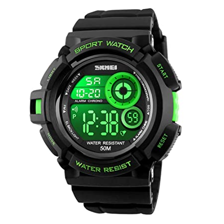 EOBP new-style LED backlight watch 50m waterproof for both men and women student sports digital watch sports watch1222E